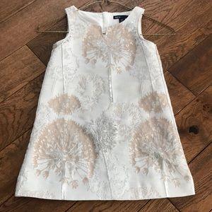 Adorable dressy silver /pinkish beige shift dress